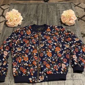 Love Tree Navy Floral Track Jacket